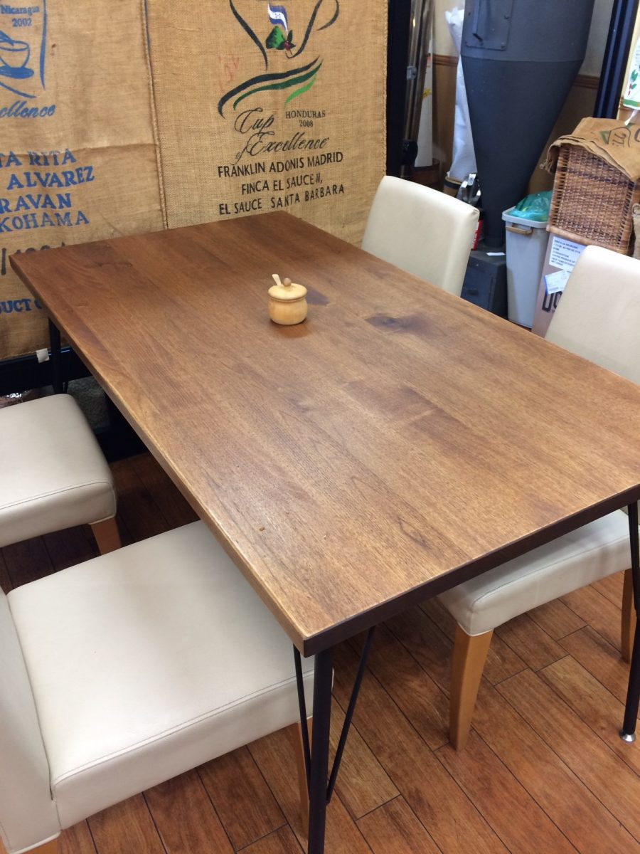 新しいテーブルが入りました。